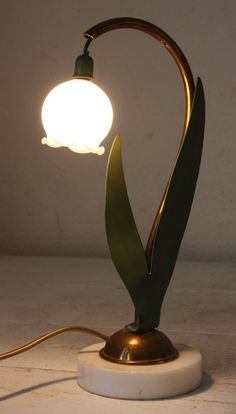 LILY of The Valley thrush French Art Deco LAMP by uneviedeboheme