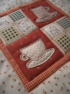 Teacup mini Quilt by PatchworkPottery, via Flickr