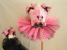 Minnie Mouse Birthday TuTu numbers 16 by SewBearablyCute on Etsy, $55.00