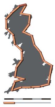 Coastline paradox - Wikipedia, the free encyclopedia Ipad Art, Paradox, Fractals, Britain, Mirror, Maths, Free, Decor, Decoration