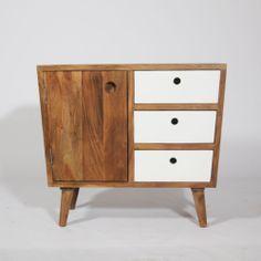 "Farinier ""BALTIK"" 1 porte 3 tiroirs en manguier. http://www.made-in-meubles.com/nouvelle-collection/dernier-arrivage/farinier-1-porte-3-tiroirs-en-manguier.html"