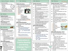 A two page exam revision mat outlining how to approach the sections and skills for the AQA GCSE English Language exams, Papers 1 and Ideal for walking t. Aqa Gcse English Language, English Gcse Revision, Gcse English Literature, Exam Revision, English Exam, English Writing, English Lessons, Teaching English, Aqa English Gcse