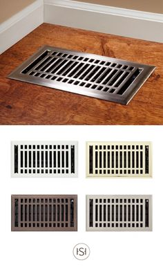 Available in a variety of finishes, these Contemporary Steel Floor Registers by Signature Hardware will add flair to your floor. The sleek design complements many home styles, from farmhouse to modern.