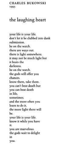 One of my favourites by Bukowski