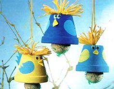 handmade bird feeder, craft ideas for kids and adults