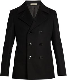 BOTTEGA VENETA Double-breasted wool pea coat Mens Wool Coats, Pea Coat, Bottega Veneta, Double Breasted, Menswear, Stylish, Jackets, Shopping, Collection