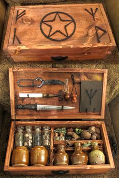 "Magickal Ritual Sacred Tools:  ""Witches Brew Kit,"" by zimzim1066, at deviantART."