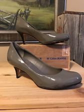COLE HAAN Nike Air Grey Patent Leather Pump Women Size 5.5 Heels Glossy