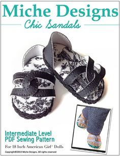 """Chic Sandals 18"""" Doll Shoes"""