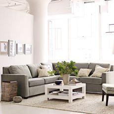 West Elm living room//Love all the light