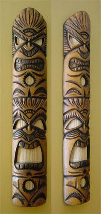 Room Design — Go Small to Think Big Tiki Pole, Tiki Tiki, Disney Themed Rooms, Tiki Faces, Tiki Head, Tiki Decor, Bamboo Lamp, Tiki Lounge, Hawaiian Tiki