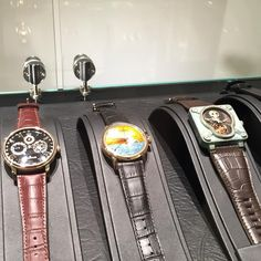 Some more unique pieces including the Bell and Ross and the gorgeous dial of the Vulcain Pegasus enamel, such gorgeous rich enamel work. #Watches
