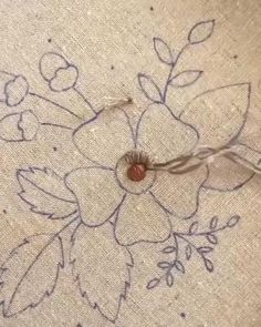 Hand Embroidery Letters, Hand Embroidery Patterns Free, Hand Embroidery Patterns Flowers, Hand Embroidery Videos, Embroidery Stitches Tutorial, Creative Embroidery, Simple Embroidery, Free Pattern, Crafty