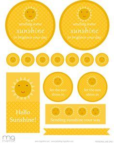 sunshine printables Freebie Friday: Gift of Sunshine
