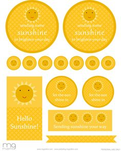 sunshine printables Freebie Friday: Gift of Sunshine