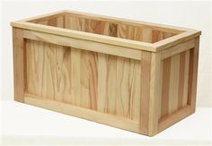 Rectangular Redwood Planter Box so I can have my herbs on the deck...and it looks pretty!