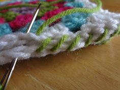 Whip stitching is a common way to join two pieces of crochet or knitting together. I often use it because it is simple to do,virtuall...