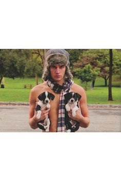 """Hot Guys With Baby Animals by Audrey Khuner & Carolyn Newman -- """"...the animals are adorable... not to mention the guys."""""""