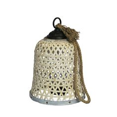 Woven Bamboo Lantern - Sagebrook Home add a touch of global inspired syle to any room in your home with lantern candleholder. This lantern style candle holder is made with woven metal, and has a unique geometric shape with an open to Metal Lanterns, Lanterns Decor, Candle Lanterns, Lantern Candle Holders, Decorative Accessories, Bamboo, Beige, Shape, Hanger