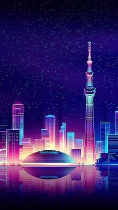Cityscape Wallpaper, Cityscape Art, City Wallpaper, Scenery Wallpaper, Galaxy Wallpaper, Tokyo Ville, Graffiti Kunst, Vaporwave Wallpaper, Vaporwave Art