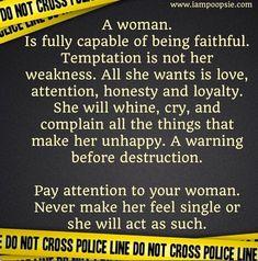 Women advice for men quote via www.IamPoopsie.com