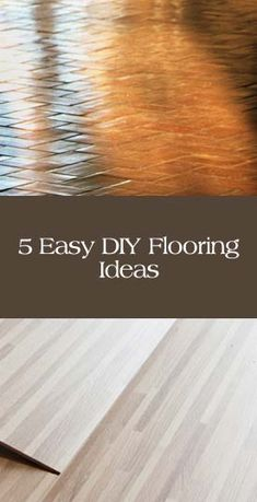 pHere are some ideas of ways that you can do your own flooring a little easier and cheaper: 1. Plywood Sheeting  This technique involves cutting plywood into strips and then gluing and laying them down. Then stain them in the color you want. You can see a great example /p