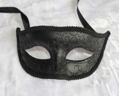 Black Venetian Male Mask Masquerade for Wedding Dancing Parties Home Decor | eBay