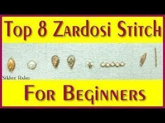 Hand Embroidery For Beginners Top 8 Zardosi Work Stitch for beginners ! Embroidery Patterns Free, Embroidery For Beginners, Hand Embroidery Designs, Embroidery Techniques, Embroidery Stitches, Zardosi Embroidery, Tambour Embroidery, Embroidery Monogram, Beaded Embroidery