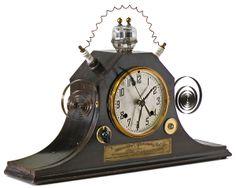 Steampunk Mantle Clock - Klockwerks by Roger Wood