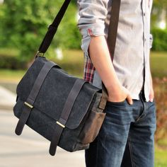 New arrival hot sale fashion men bags man canvas casual messenger bag high quality male brand hasp cover bag wholesale $26.90