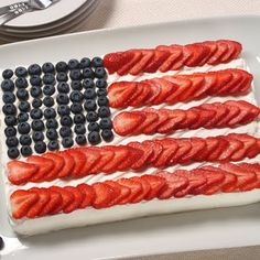 "Making this flag cake today for Isaiah & James' birthdays. We are celebrating ""Captain America"" style for Independence Day!"