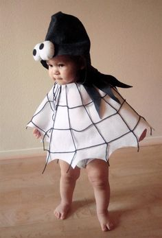 Baby's Spider Costume...this could totally be made into an adult size.