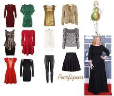 Peerfiguur: prachtige jurk draagt Adele.