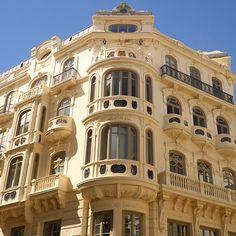 Fachada del edificio que anteriormente albergaba a los Almacenes Félix Sáenz, en la Plaza del mismo nombre. photo by cristinarosalespq on Instagram  #Málaga #España #Spain