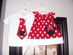 Custom Brother/Sister Mickey/Minnie Peasant by AutumnRoseBoutique, $40.00