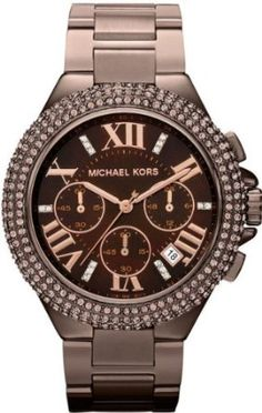 Michael Kors Women's 'Camille' Espresso Chronograph Watch