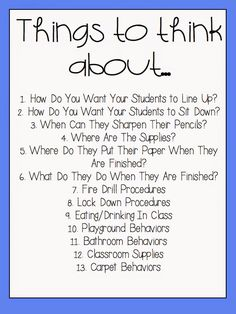 A Day in First Grade | Setting Up Procedures At The Beginning Of The School Year