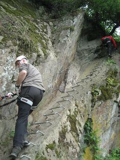 #Klettersteig bei Boppard in Rheinland Pfalz. Genau das Richtige um zu testen ob man schwindelfrei ist.