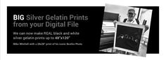 Digital Silver Imaging - Museum-quality black and white prints made from your digital files