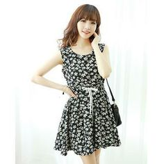 Buy 'Dodostyle – Floral Print Sleeveless A-Line Dress' with Free Shipping at YesStyle.ca. Browse and shop for thousands of Asian fashion items from South Korea and more!