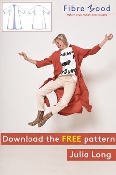 Whether you opt for a somewhat stiffer jacket or a supple blouse, the Julia pattern's sewing instructions show you how. Sewing Patterns Free, Free Sewing, Clothing Patterns, Pattern Sewing, Clothes Crafts, Sewing Clothes, Sewing Hacks, Sewing Projects, Crochet Dog Sweater