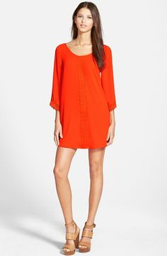 ASTR+Lace+Trim+Shift+Dress+available+at+#Nordstrom