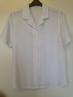 VINTAGE C&A WHITE SHORT SLEEVE BLOUSE SIZED 14 - IMMACULATE #CA #Casual