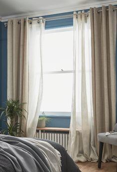 #castorama #inspiration #decoration #ideedeco #tendancedeco #rideau #plantes #chambre #GoodHome Curtains, Decoration, Inspiration, Home Decor, Bedroom Plants, Master Bedrooms, Home, Decor, Biblical Inspiration