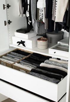 Wardrobe Drawer Organization - Homey Oh My - Wardrobe Drawer Organization. small space storage tips Wardrobe Drawer Organization.