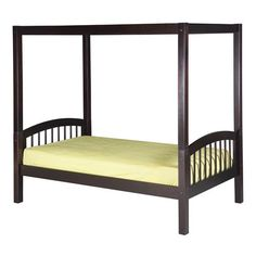 Camaflexi C80 Twin Canopy Bed with Arch Spindle Headboard
