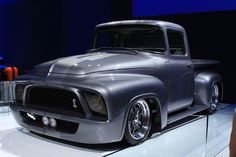 """Gene Simmons """"Snakebit"""" 1956 Ford F100 @ SEMA Show 2013--What I picture at the beginning of Detroit Rock City."""