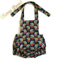 Check out this item in my Etsy shop https://www.etsy.com/listing/245702877/cherry-bomb-romper-baby-romper-girl