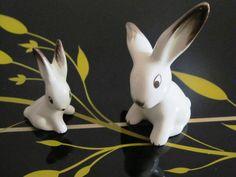 Kitch retro bunnies/rabbits by JulesetVianne on Etsy, £6.00