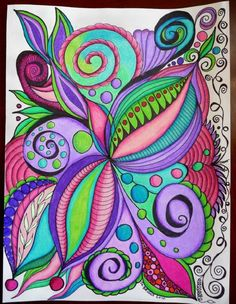 Zentangle by fairytwine Doodles Zentangles, Zentangle Patterns, Zentangle Art Ideas, Zen Doodle, Doodle Art, Doodle Coloring, Doodle Designs, Zen Art, Art Graphique